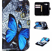 Embossed Coloured Drawing or Pattern PU Leather Wallet Mobile Phone Holster for Samsung Galaxy J1 Ace/J2