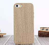 For iPhone 5 Case Pattern Case Back Cover Case Wood Grain Hard PU Leather iPhone SE/5s/5