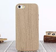 Für iPhone 5 Hülle Muster Hülle Rückseitenabdeckung Hülle Holzmaserung Hart PU - Leder iPhone SE/5s/5