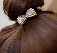 Fashion Diamante Elastic  Love Heart Hair Ring / Hair Band