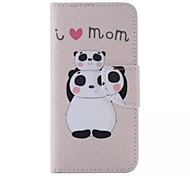 Panda Pattern Cell Phone Leather For iPhone 6/6S