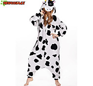 New Cosplay® Cow Polar Fleece Adult Kigurumi Pajama(without Shoes)