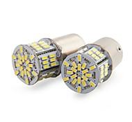 2 x 1156 BA15S 54 LED 3014 SMD White Car Tail Brake Light Bulb Lamp