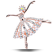 Korean Version Of The New Ballet Girl Pearl Brooch