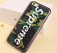 Green Camouflage Pattern Plating TPU Phone Case for iPhone 5/5S