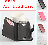For Acer Case Card Holder / with Stand / Flip Case Full Body Case Solid Color Hard PU Leather for Acer