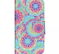 Decorative Pattern Painted PU Phone Case for Galaxy J5