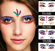 2Pcs Foreign Trade Fashion Makeup Art Face Halloween Party 16 Lazy Essential Equipment