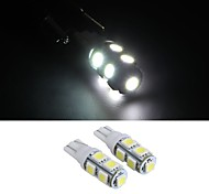 10 * T10 White 12V 5050 SMD 9 Wedge LED Car Side Light Bulb Lamp