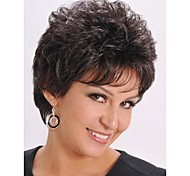 Beautiful Natural Color 1B Short Synthetic Hair Wave Wigs Enough Inventory