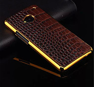 High Quality Plating Golden PC+ PU Leather Material Phone Shell For HTC One M8/M7/M9(Assorted Color)