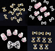 10pcs  Nail Metal Bow Ornament