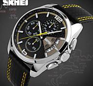 SKMEI® Men's Fashion Sport Racing Design Leather Quartz Chrono Watch