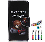 Cubs PU Material  Phone Case Dust Plug Stylus Pen Combination for Samsung S3/4/5/6/S4 Mini/S6 edge/S6 edge+