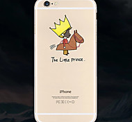 Crown People Pattern TPU Soft Phone Case for iPhone 6s 6 Plus