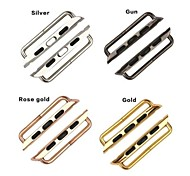 Stainless Steel Adapters for Apple iWatch Gold, Rose Gold, Silver and Black Colour
