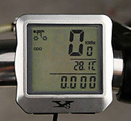 Multi Function Waterproof Odometer Speedometer for Cycling Bike Bicycle Silver