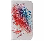 lion modèle en cuir de téléphone pour Samsung Galaxy J5