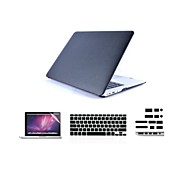 "4 in 1 Black Cover Case+ Keyboard Cover+ Screen Protector + Dust Plug for Macbook  Pro 13""/15"""