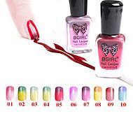 cambio de temperatura / color degradado empapan-apagado el esmalte de uñas (11 ml, 1-10 # color disponible)