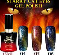 1PCS Starry Cat Eyes Color Gel 15ml 12Colors Long Lasting Nail Polish 4-6