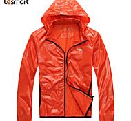 Lesmart Hommes Mao Manche Longues Veste Orange - MDFY1202