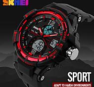 Men's Dual Time Display Analog-Digital Alarm Stopwatch Sports Watch