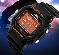 Men's Square LCD Digital Sport Watch Fashion Sporty Stopwatch