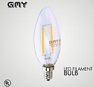 Luci LED a candela 2 COB GMY B E12 2W Decorativo ≥200 LM Bianco caldo 1 pezzo AC 110-130 V