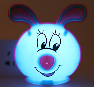 Energy-saving LED Cute Rabbit Light-Operated Mode Night Light Lamp