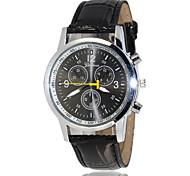 Marque la montre de 2015 de Genève hommes en cuir