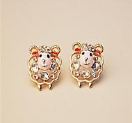Stud Earrings Rhinestone Alloy Jewelry Wedding Party Casual 2pcs