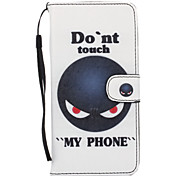 Don't Touch Me Pattern PU Leather Full Body Case with Stand for iPhone 6S Plus