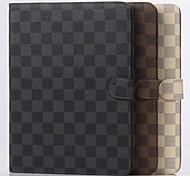 mais novo projeto tartan pu tablet proteger shell com stand titular para samsung guia T530 / T700 / T800 / cores sortidas