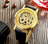 Authentic moment Leather watch Waterproof Skeleton Watch men watch quartz watch 2 Dial Color WH0030A-W Wrist Watch Cool Watch Unique Watch