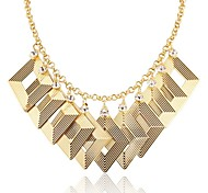Designer Jewelry Square Geometric Choker Necklace Elegant