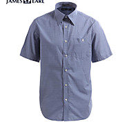 JamesEarl Men's Shirt Collar Short Sleeve Shirt & Blouse Blue - M21X9000704