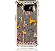 giraffa pattern pc phone case sabbie mobili stereoscopico stella per Samsung Galaxy S4 / S5 / S6 / s6edge (colori assortiti)
