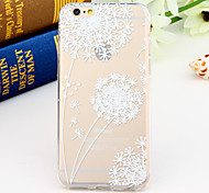 Black and White Style Dandelion 2-Times Printed TPU Soft Back Cover for iPhone 6/6S