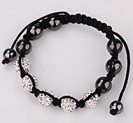 Strand Beads Bracelets Jewelry Bracelets For Women New bracelets Micro Pave CZ Disco Ball (5pic)10mm Bead b049