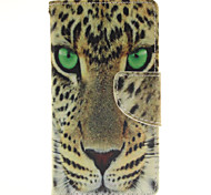 The Golden Leopard Design PU Material Cell Phone Case Cover For WIKO Sunset 2