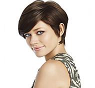 qualidade superior e preço mais barato marrom escuro peruca curta syntheic
