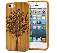 Handmade Natural Wood Wooden Flesh Hard bamboo Case Cover for iPhone 5/5S