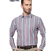 JamesEarl Men's Shirt Collar Long Sleeve Shirt & Blouse Red - MB1XC001101