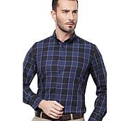 JamesEarl Men's Shirt Collar Long Sleeve Shirt & Blouse Blue - DA112047104