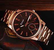 Men's Watch The Classical Simple Digital Calendar With Golden Scale Quartz Domineering Steel Watch