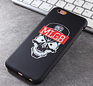 New Skull Pattern Green Vinyl Material Does Not Fade Tide Phone Case for iPhone 6 / 6S