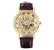 soxy® mode de luxe brun or de ceinture&simili cuir blanc montre montre à quartz pour les femmes