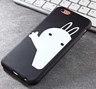 New White Rabbit Pattern Green Vinyl Material Does Not Fade Tide Phone Case for iPhone 6 / 6S