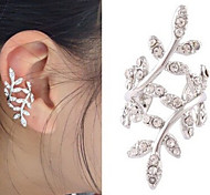 New Arrival Fashional Rhinestone Leaf Earhook Earring